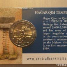 Monedas antiguas de Europa: COINCARD MALTA HAGAR QIM TEMPLE 2017. Lote 195242751