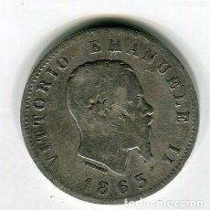 Monedas antiguas de Europa: ITALIA VITTORIO EMANUELLE II 1 LIRA AÑO 1863 PLATA. Lote 195247196