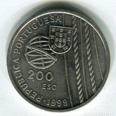 Monedas antiguas de Europa: REPUBLICA PORTUGUESA 200 ESCUDOS AÑO 1999 - CONMEMORATIVA -. Lote 195247275