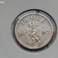 Monedas antiguas de Europa: NORUEGA 10 ORE 1882. Lote 195279870