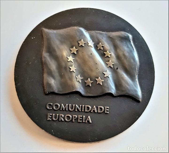 MEDALLON BRONCE PORTUGAL LISBOA 1990 XVIII ESTADOS GERAIS DOS MUNICIPIOS E REGIOES DA EUROPA- 60.MM (Numismática - Extranjeras - Europa)