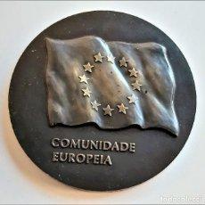 Monedas antiguas de Europa: MEDALLON BRONCE PORTUGAL LISBOA 1990 XVIII ESTADOS GERAIS DOS MUNICIPIOS E REGIOES DA EUROPA- 60.MM. Lote 195312147