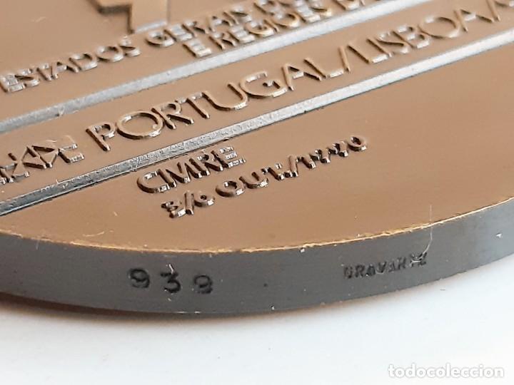 Monedas antiguas de Europa: MEDALLON BRONCE PORTUGAL LISBOA 1990 XVIII ESTADOS GERAIS DOS MUNICIPIOS E REGIOES DA EUROPA- 60.MM - Foto 4 - 195312147