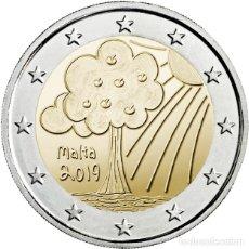 Monedas antiguas de Europa: MALTA 2 EURO 2019 LA NATURALEZA Y EL MEDIO AMBIENTE -LOS NIÑOS Y LA SOLIDARIDAD. Lote 195323658