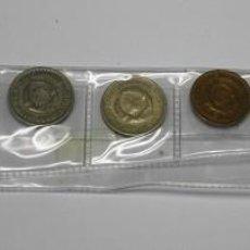 Monedas antiguas de Europa: 117,,TIRA CON 8 MONEDAS DE YUGUSLAVIA, 10,2,1,1,1,10,5,Y 5 DINAR AÑOS VARIADOS CONSERVACION S/C-MBC+. Lote 195330275