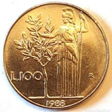 Monedas antiguas de Europa: ITALIA MONEDA 100 LIRAS 1988. Lote 195340403