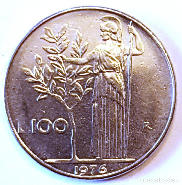 ITALIA MONEDA 100 LIRAS 1976 (Numismática - Extranjeras - Europa)