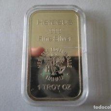 Monedas antiguas de Europa: ALEMANIA * 1 ONZA DE PLATA PURA * HERAEUS EDELMETALLE. Lote 195340472