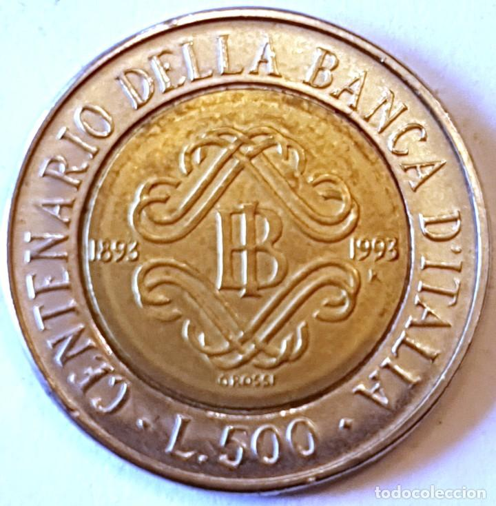 ITALIA MONEDA 500 LIRAS 1993 (Numismática - Extranjeras - Europa)