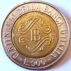 Monedas antiguas de Europa: ITALIA MONEDA 500 LIRAS 1993. Lote 195340497