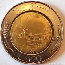 Monedas antiguas de Europa: ITALIA MONEDA 500 LIRAS 1992. Lote 195340525