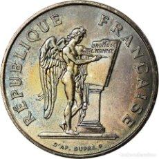 Monedas antiguas de Europa: MONEDA, FRANCIA, DROITS DE L'HOMME, 100 FRANCS, 1989, EBC+, PLATA, KM:970. Lote 195346170