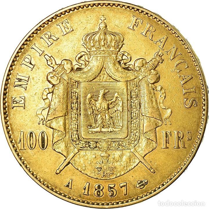 Monedas antiguas de Europa: Moneda, Francia, Napoleon III, 100 Francs, 1857, Paris, BC+, Oro, KM:786.1 - Foto 2 - 195358123