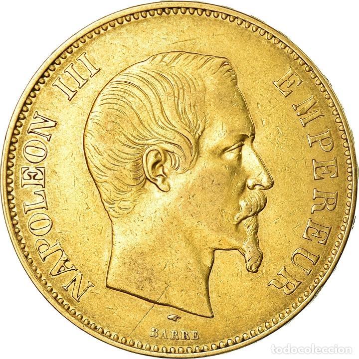 MONEDA, FRANCIA, NAPOLEON III, 100 FRANCS, 1857, PARIS, BC+, ORO, KM:786.1 (Numismática - Extranjeras - Europa)