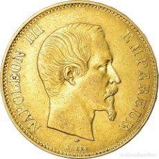 Monedas antiguas de Europa: MONEDA, FRANCIA, NAPOLEON III, 100 FRANCS, 1857, PARIS, BC+, ORO, KM:786.1. Lote 195358123