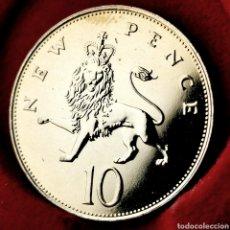 Monedas antiguas de Europa: PROOF, 86000EJ. GRAN BRETAÑA 10 PENCE 1978. Lote 195359391