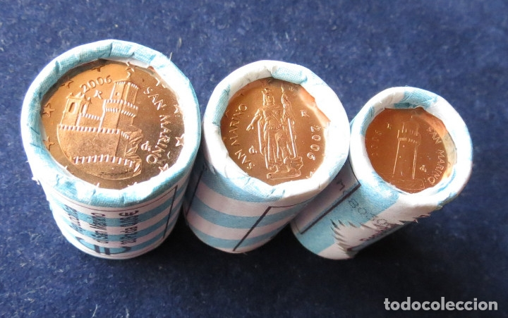 SAN MARINO 3 MONEDAS 1 2 5 EURO CENTS 2006 (Numismática - Extranjeras - Europa)