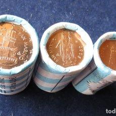 Monedas antiguas de Europa: SAN MARINO 3 MONEDAS 1 2 5 EURO CENTS 2006. Lote 195364638