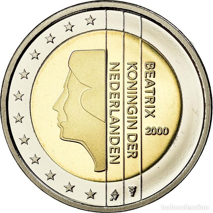 PAÍSES BAJOS, 2 EURO, 2000, BE, FDC, BIMETÁLICO, KM:241 (Numismática - Extranjeras - Europa)