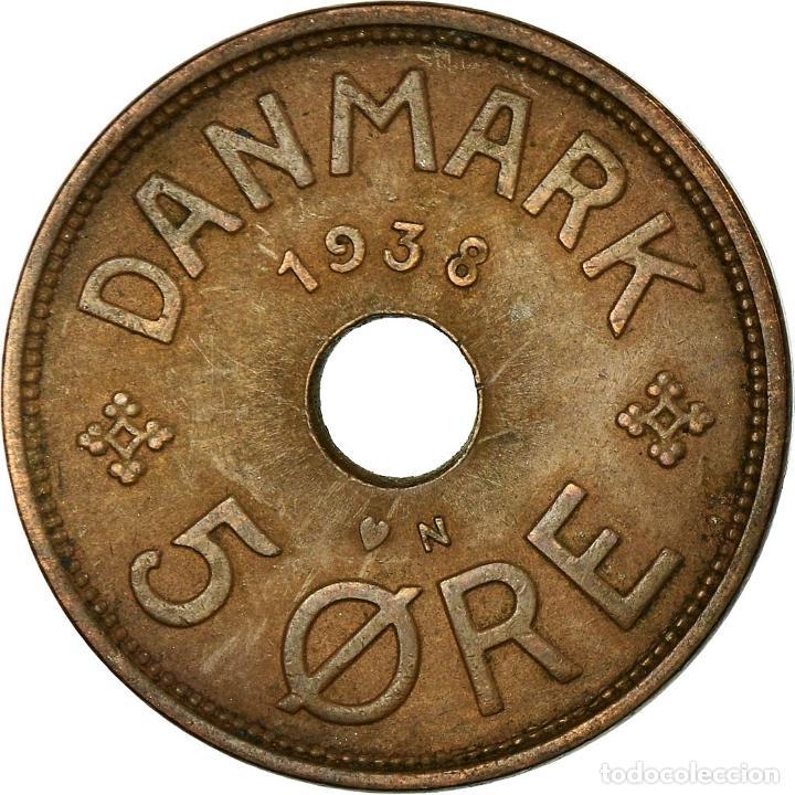 Monedas antiguas de Europa: Moneda, Dinamarca, Christian X, 5 Öre, 1938, Copenhagen, MBC, Bronce, KM:828.2 - Foto 2 - 195386428