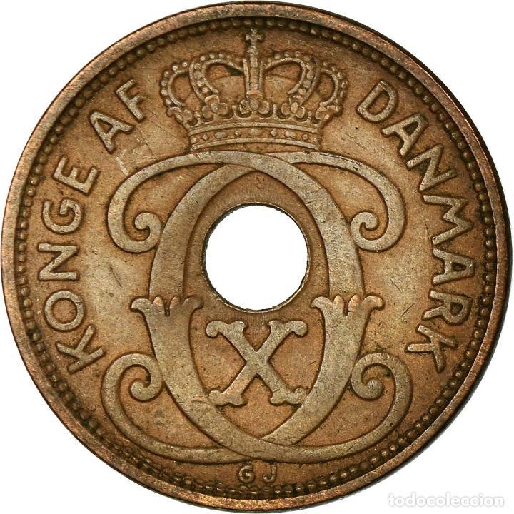 MONEDA, DINAMARCA, CHRISTIAN X, 5 ÖRE, 1938, COPENHAGEN, MBC, BRONCE, KM:828.2 (Numismática - Extranjeras - Europa)