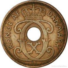 Monedas antiguas de Europa: MONEDA, DINAMARCA, CHRISTIAN X, 5 ÖRE, 1938, COPENHAGEN, MBC, BRONCE, KM:828.2. Lote 195386428