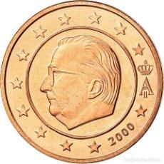 Monedas antiguas de Europa: BÉLGICA, 2 EURO CENT, 2000, BE, FDC, COBRE CHAPADO EN ACERO, KM:225. Lote 195388288