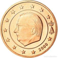 Monedas antiguas de Europa: BÉLGICA, EURO CENT, 2000, BE, FDC, COBRE CHAPADO EN ACERO, KM:224. Lote 195388285