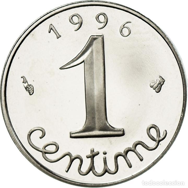 Monedas antiguas de Europa: Moneda, Francia, Épi, Centime, 1996, Paris, BE, FDC, Acero inoxidable, KM:928 - Foto 2 - 195391271