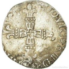 Monedas antiguas de Europa: MONEDA, FRANCIA, LOUIS XIII, 1/4 D'ÉCU DE BÉARN, 162[6?], MORLAAS, BC, PLATA. Lote 195431667
