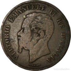Monedas antiguas de Europa: MONEDA, ITALIA, VITTORIO EMANUELE II, 5 CENTESIMI, 1861, MILAN, BC+, COBRE. Lote 195435540