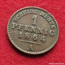 Monedas antiguas de Europa: ALEMANIA REUSS 4 PF. 1864. Lote 195438417