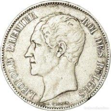Monedas antiguas de Europa: MONEDA, BÉLGICA, LEOPOLD I, 5 FRANCS, 5 FRANK, 1849, BC+, PLATA, KM:17. Lote 195438821
