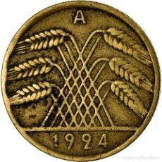 Monedas antiguas de Europa: MONEDA, ALEMANIA - REPÚBLICA DE WEIMAR, 10 RENTENPFENNIG, 1924, BERLIN, BC+. Lote 195442045