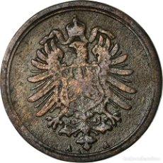 Monedas antiguas de Europa: MONEDA, ALEMANIA - IMPERIO, WILHELM I, PFENNIG, 1886, BERLIN, BC+, COBRE, KM:1. Lote 195442228