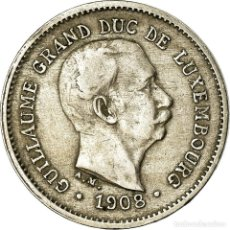 Monedas antiguas de Europa: MONEDA, LUXEMBURGO, WILLIAM IV, 5 CENTIMES, 1908, MBC, COBRE - NÍQUEL, KM:26. Lote 195442235