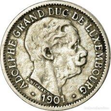 Monedas antiguas de Europa: MONEDA, LUXEMBURGO, ADOLPHE, 10 CENTIMES, 1901, BC+, COBRE - NÍQUEL, KM:25. Lote 195442270