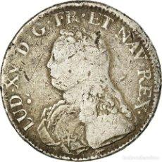 Monedas antiguas de Europa: MONEDA, FRANCIA, LOUIS XV, ÉCU AUX BRANCHES D'OLIVIER, ECU, 1731, PARIS, BC+. Lote 195442747