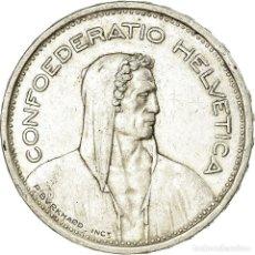 Monedas antiguas de Europa: MONEDA, SUIZA, 5 FRANCS, 1954, BERN, MBC, PLATA, KM:40. Lote 195442761