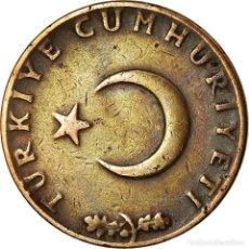 Monedas antiguas de Europa: MONEDA, TURQUÍA, 10 KURUS, 1967, MBC, BRONCE, KM:891.1. Lote 195443297