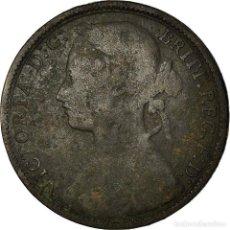 Monedas antiguas de Europa: MONEDA, GRAN BRETAÑA, VICTORIA, PENNY, 1877, BC+, BRONCE, KM:755. Lote 195443831