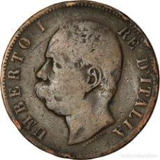 Monedas antiguas de Europa: MONEDA, ITALIA, UMBERTO I, 10 CENTESIMI, 1893, BIRMINGHAM, BC+, COBRE, KM:27.1. Lote 195445865