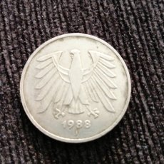 Monedas antiguas de Europa: 5 MARCOS DE ALEMANIA 1989. Lote 195450675