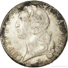 Monedas antiguas de Europa: MONEDA, FRANCIA, LOUIS XV, ÉCU AU BANDEAU, ECU, 1741, ROUEN, BC+, PLATA. Lote 195467288