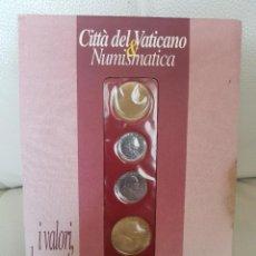 Monedas antiguas de Europa: CARTERA DE 5 LIRAS CITTÀ DEL VATICANO - GIOVANNI PAOLO II - JUAN PABLO II - NUEVAS. Lote 195471580