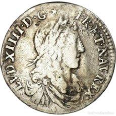Monedas antiguas de Europa: MONEDA, FRANCIA, LOUIS XIV, 1/12 ÉCU AU BUSTE JUVÉNILE, 1/12 ECU, 10 SOLS. Lote 195472147