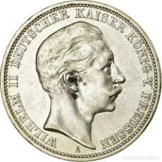Monedas antiguas de Europa: MONEDA, ESTADOS ALEMANES, PRUSSIA, WILHELM II, 3 MARK, 1908, BERLIN, MBC+. Lote 195501301