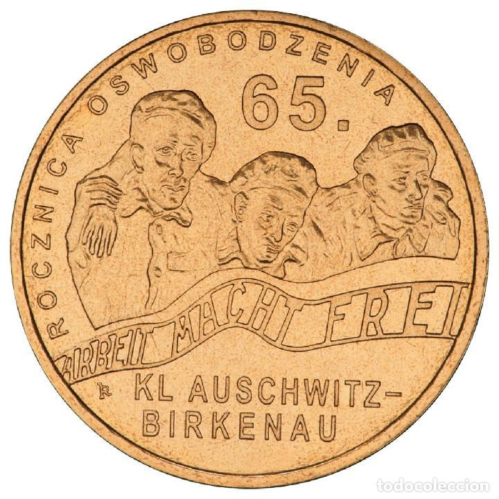 POLONIA 2 ZLOTYH 2010 AUSCHWITZ-BIRKENAU UNC (Numismática - Extranjeras - Europa)