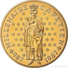 Monedas antiguas de Europa: MONEDA, FRANCIA, HUGUES CAPET, 10 FRANCS, 1987, PARIS, FDC, PLATA, KM:961. Lote 195513040
