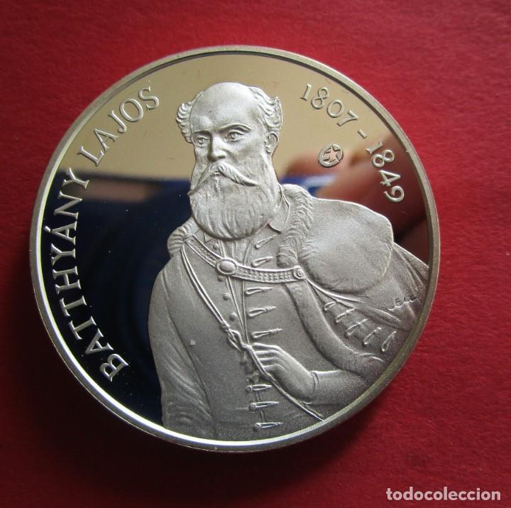 HUNGRIA . 5000 FORINT DE PLATA DEL AÑO 2007 . FONDO ESPEJO . MAGNIFICA (Numismática - Extranjeras - Europa)